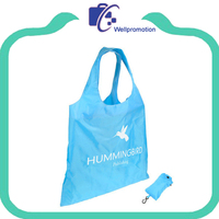 Wholesale lightweight polyester foldable shopping tote bag