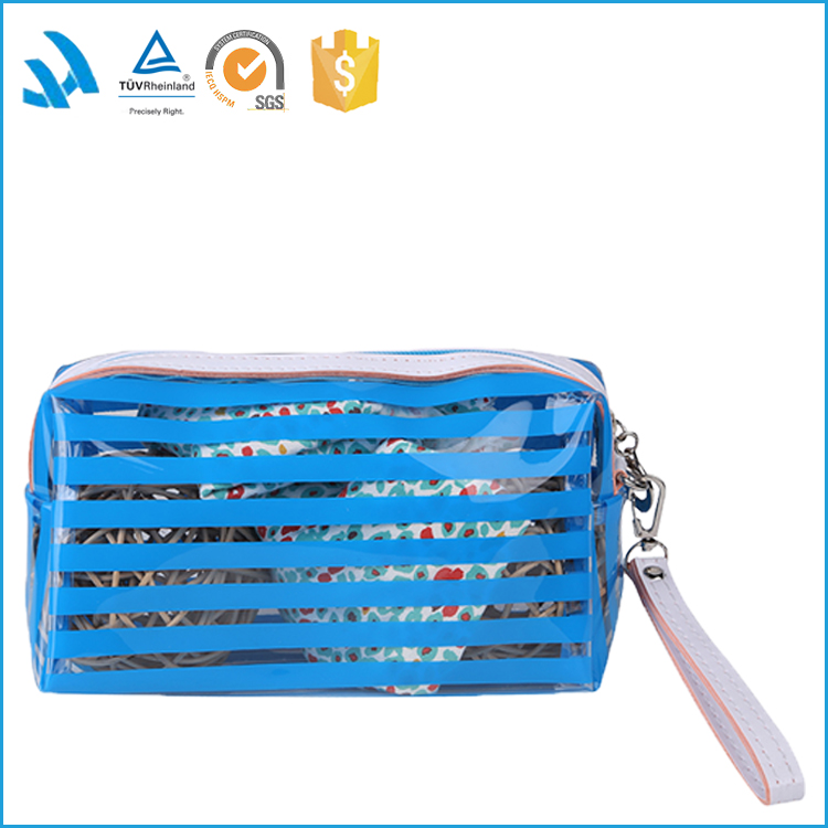 fashion bag clear pvc cosmetic bag with zipper