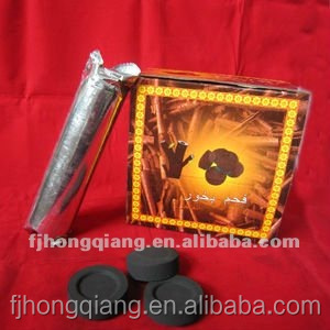 Hongqiang charcoal fast light Incense low ash bamboo round tablet shisha charcoal