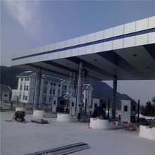 steel structure light space frame for prefab toll station roof design