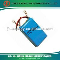12v Lithium ion polymer battery 1100mah 563562*3 with pcm and wire