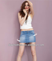 2014 Hot sale most popular Beautiful denim jean skirt, jean short skirt for sexy lady,