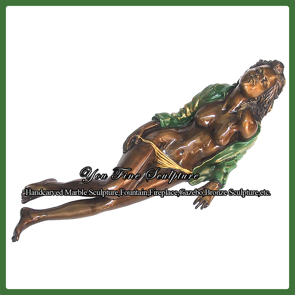 Garden Erotic Bronze Sculpture of Sex Nude Women