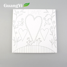 Wholesale decorative heart pattern flower designs fabric painting on canvas