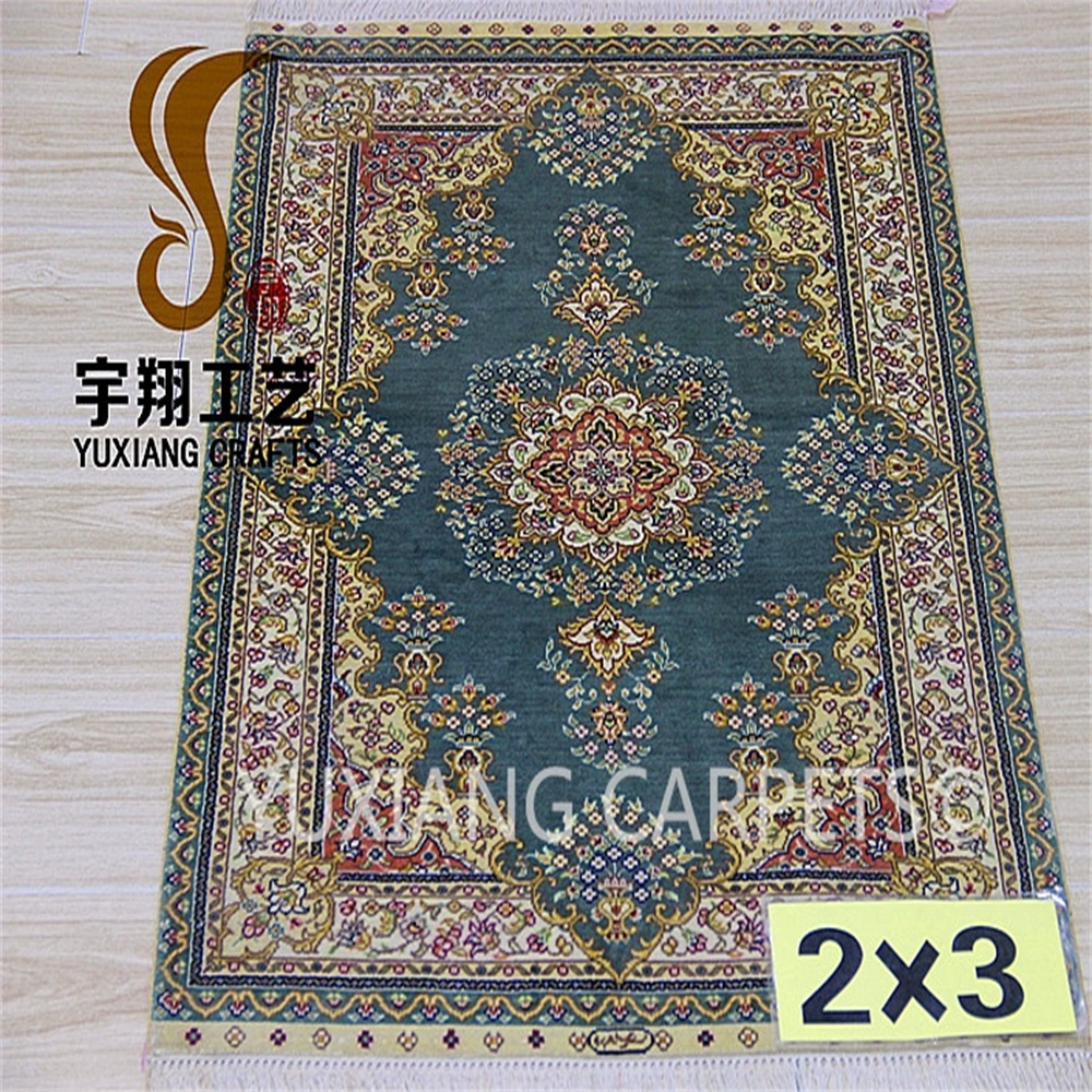 green bamboo carpets2x3ft hand knotted silk fringe rugs