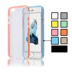 C&T Transparent Air Cushion Shock Resistant Colorful TPU Bumper Cover Case for iPhone 6/6S 4.7''