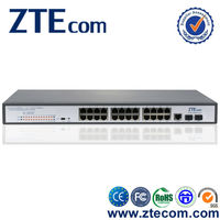 ZTEcom Super Safety optic fiber 24 port POE Switch with power supply