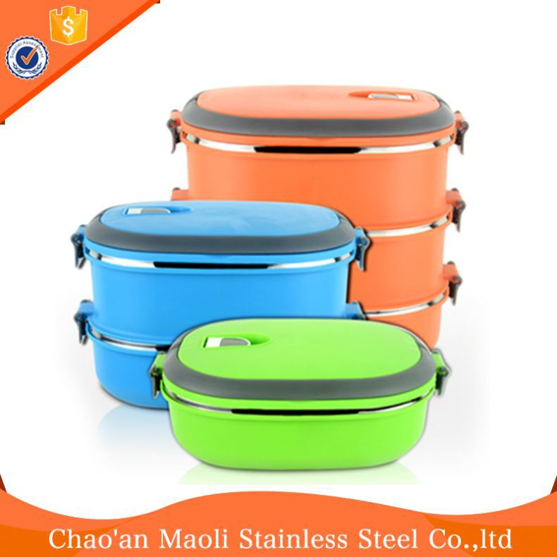 Pollution Free Indonesia Plastic Food Container Hot Lunch Box