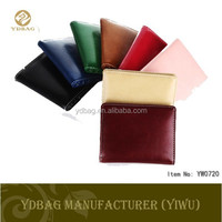 New design colorful leather wallet men