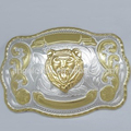 R-0333-5 44 MM back w/teeth fashion metal nickel free wholesale gold buckle with tiger head