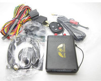 gps Vehicle tracker GPS105B Fuel, shock sensor, ACC, door, SOS and footbrake alarm TK105 SMS tracking on cellphone with goog