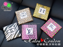 Convenient Sex Products Portable Luxury Bag Package Creative Condom /Original Latex Condom Sex Toy For Adult