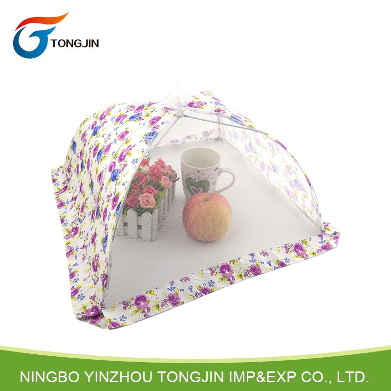 Folding mesh table food cover with lace,mosquito food cover