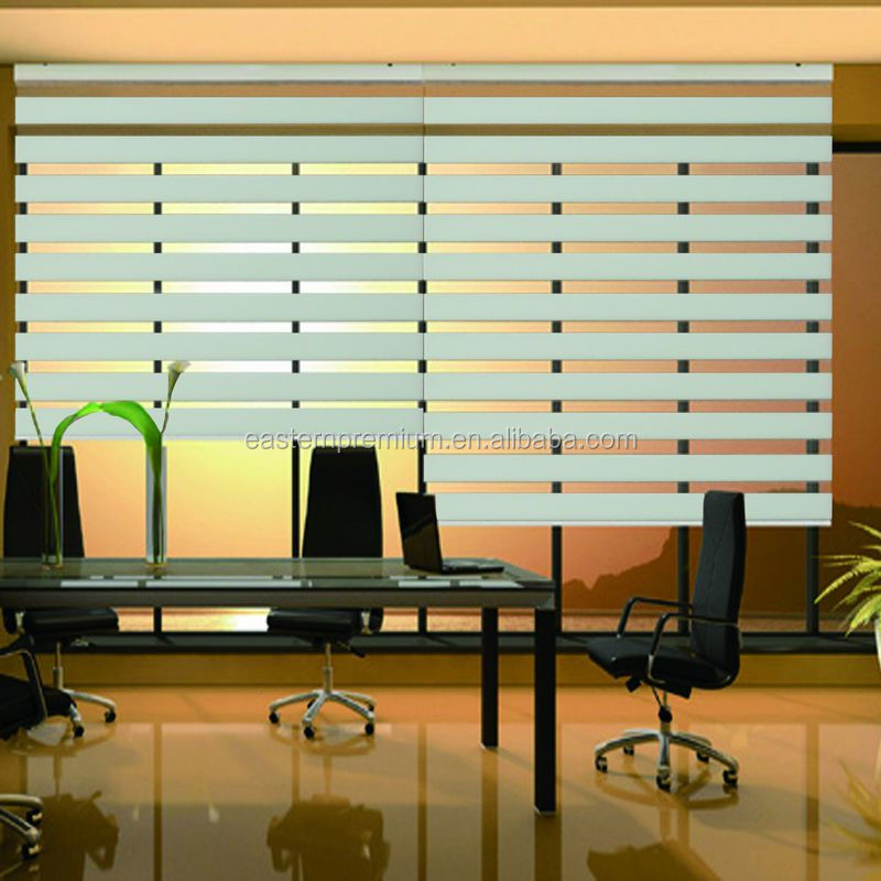 2016 Motorized Roller Zebra Blind Window Roller Blind Blackout Indoor/Outdoor Retractable Roller Blind