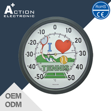 Advertising Promotion Rohs Certified Top Quality Outdoor Clock And Thermometer
