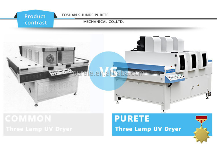 UV dryer machine drying uv paint so quick and improve high efficiency