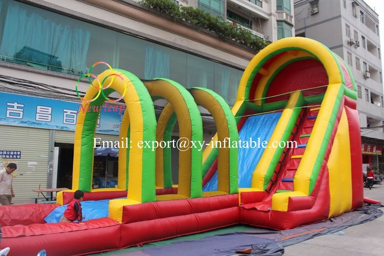 Factory cheap largest inflatable water slide for adult and kids