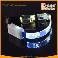 2016 new optical fiber led cat collars TZ-PET9000 pet toy
