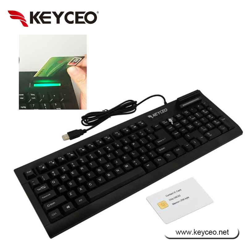 smart ic card reader keyboard with multimedia keys