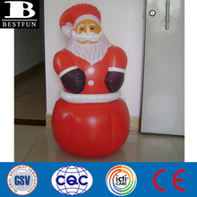 Christmas Promotional customized OEM PVC inflatable red santa tumbler toy stand up tumbler toy