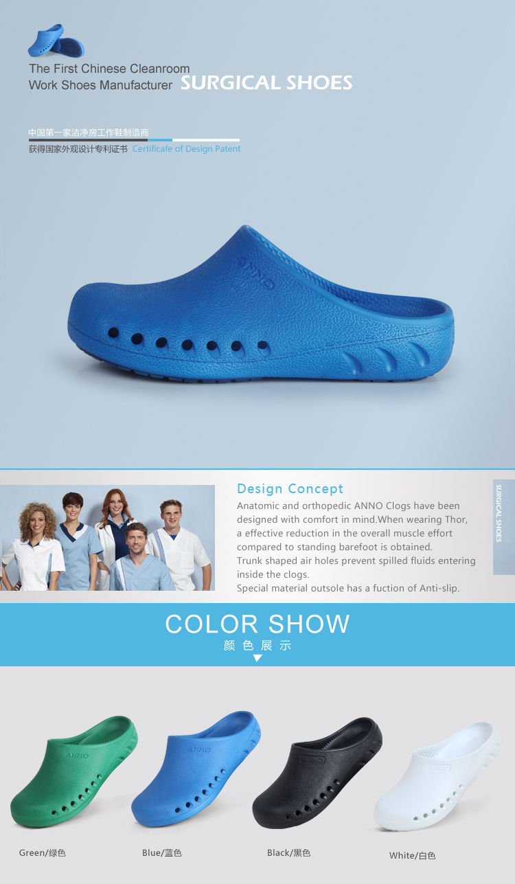 Hot Selling Light Weight Anti-slip Supper Comfortable Medical Clogs