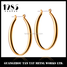 Stylish Dangle Earring Brass Material Earring BIg Hoop Sexy Women's Jewelry
