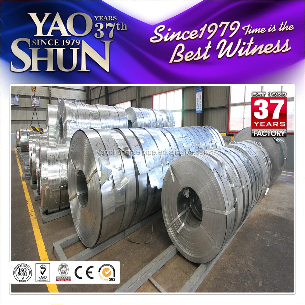 610mm Hot dipped GI/Galv/Gal steel coil for making pipe