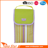 Hot sell stripe printed beautiful hand portable stripe cooler ice bag