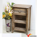 Farmhouse Natural Wooden Bed Side Table