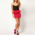 Fashion Summer European Red Color Sexy Casual Skirt