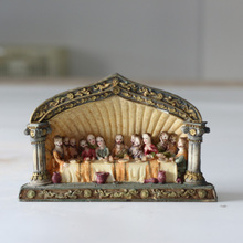 Religious Features Souvenirs Resin Holy Dinner Home Deocration Statues The Last Supper Catholic Religious Polyresin Crafts