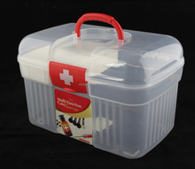 Cheap clear medical plastic container with handle