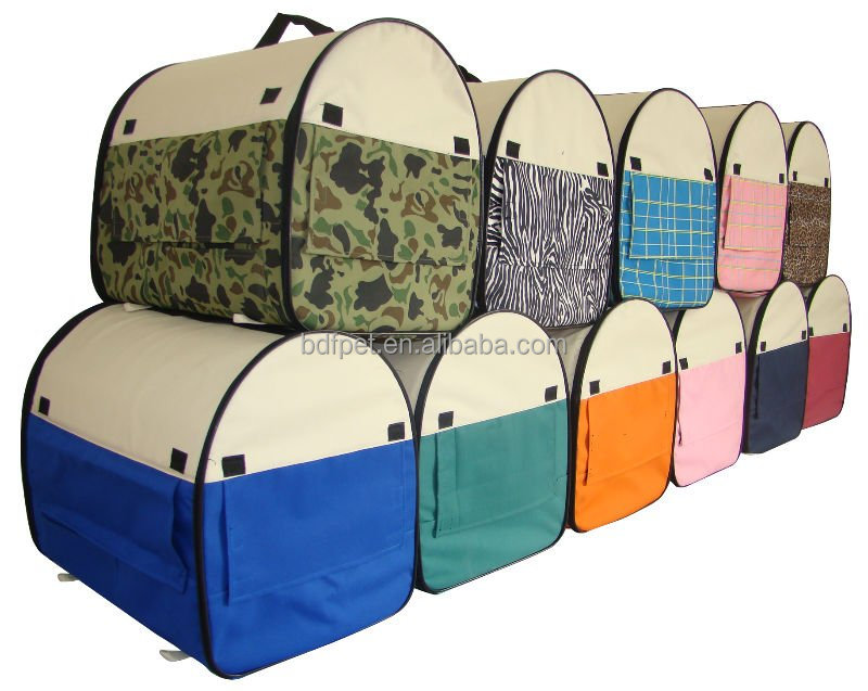 Factory Wholesale Foldable Pet Travel Carrier / Pet Dog Cat Bag / Pet Soft Crate