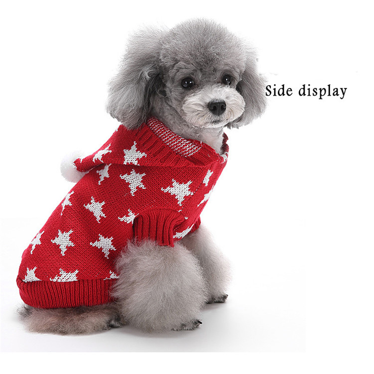 Pet Products Dog Clothing Knitted Star Sweater Dobaz Pet Clothes With Hat