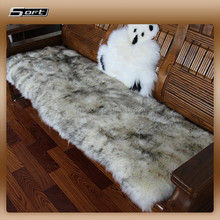 China supplier wholesale Real soft sheep fur cushion for car seat