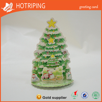 Wholesale video greeting/ custom greeting card card with christmas tree for gift