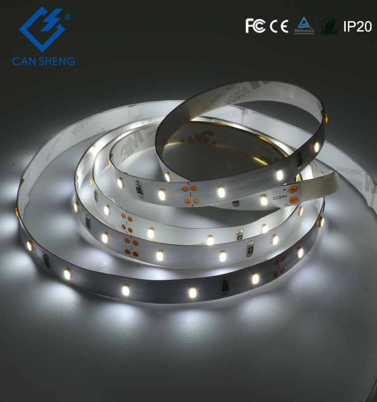 High brightness CW smd 3014 led flexible strip with DC12V 24V 60LEDs home decorative led lights