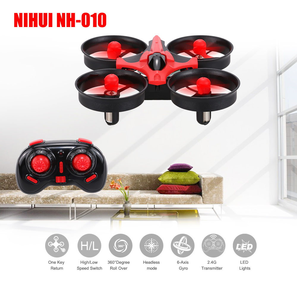 Original NH-010 2.4G 4CH 6-Axis Gyro RC Quadcopter RTF UFO Mini Drone with 3D-Flip/Headless Mode/One-Key Return and LTD
