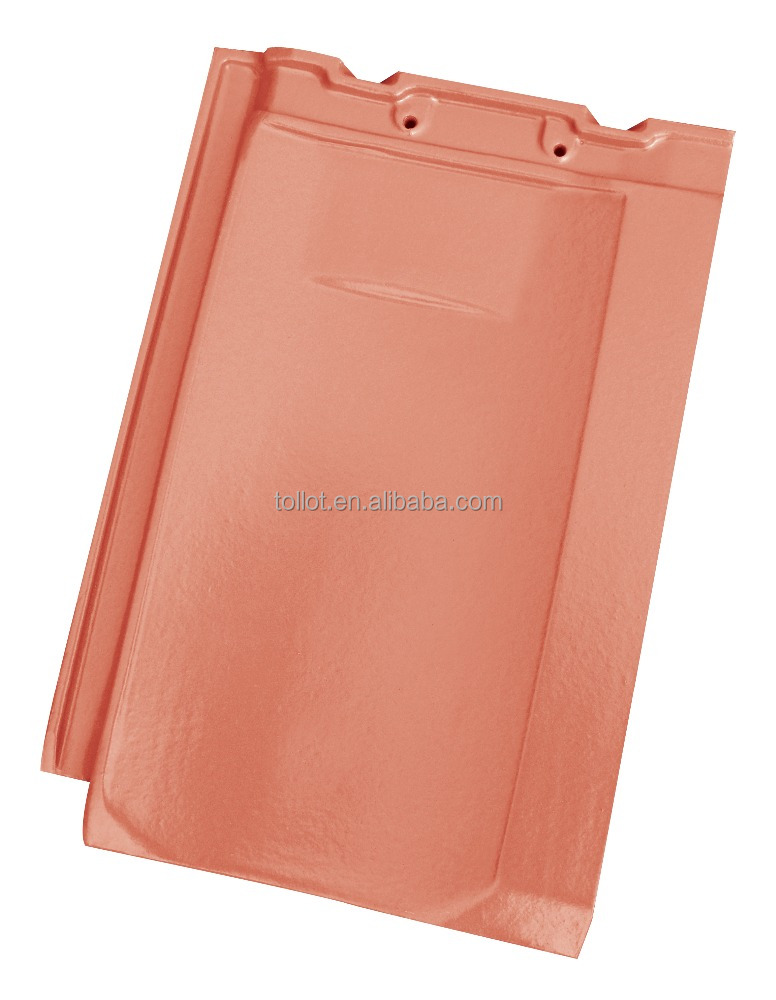 Factory Sale China Competitive Clay Roof Tiles Glossy Vermilion