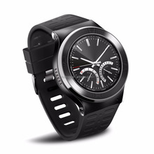 "1.33"" round screen android wear 3G WCDMA sim card bluetooth heart rate GPS wrist hand watch mobie phone"
