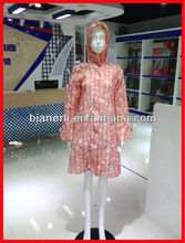new fashionable nylon all over printing raincoats for women