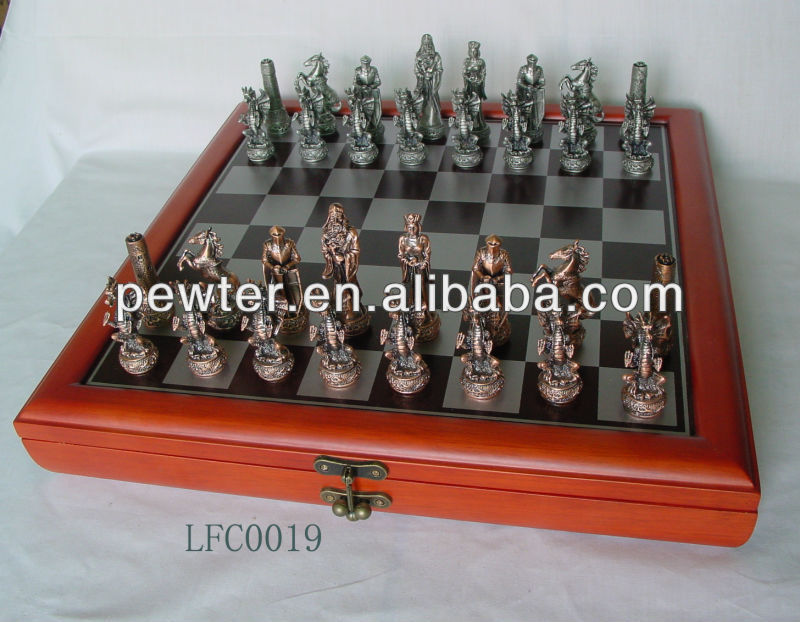 2014 new High Quality Chess Set, pewter/resin Chess Set