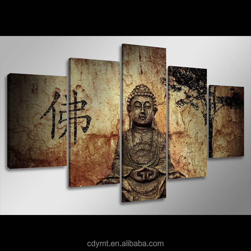 China online shopping buddha oil painting art on pre printed canvas