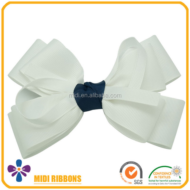 Grosgrain Ribbon Hair Bow with Clip Baby Hairbow Boutique Bow for Kids Hair Accessories