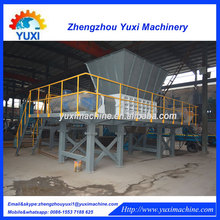 large capacity used waste scrap tire paint bucket shreddermachine line price