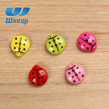 wholesale 2 hole ladybug design animal shape children abs button