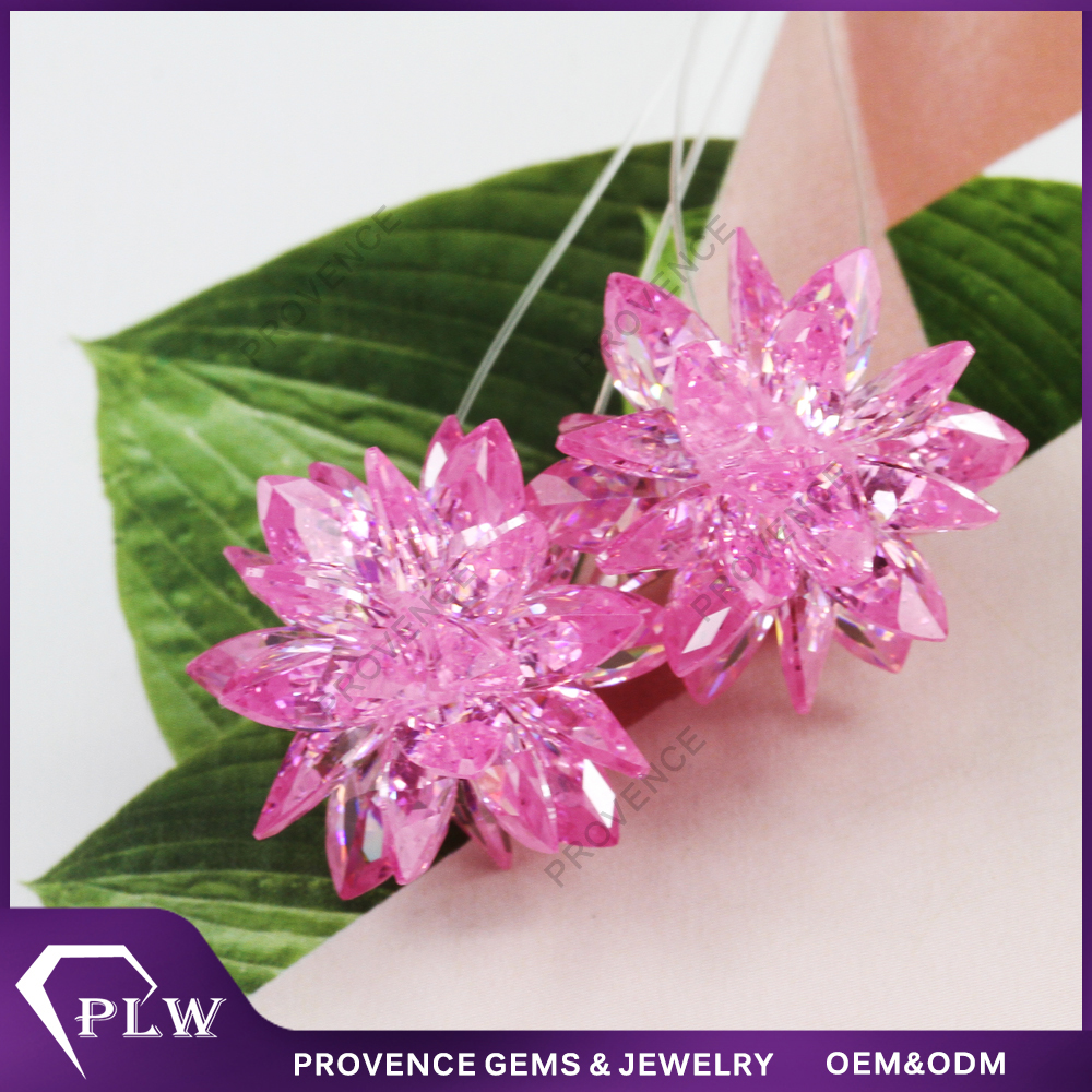 Importing beautiful pink color handmade earrings jewelry for woman from China