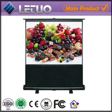 china manufacturer protable floor standing pull down roll up projector screen
