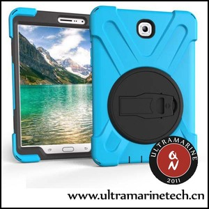 Ultramarine Pirate King PC Silicone Rotating Earthquake Drop-Proof Heavry duty Armor Case For Galaxy Tab S3 9.7 Accessories