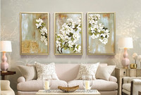 Framed 3 panel canvas wall art for living room